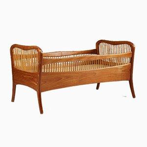 Modernist Danish Teak & Bamboo Crib by Ove Sørensen, 1960s