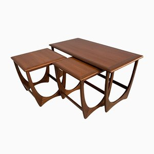 Teak Coffee Table & Side Tables Set from G-Plan, 1960s, Set of 3