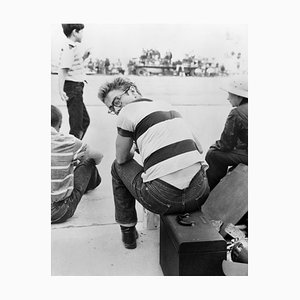James Dean at a Car Rally Druck von Frank Worth