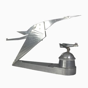 Vintage Inkwell with Mascot and Plane from Hispano Suiza