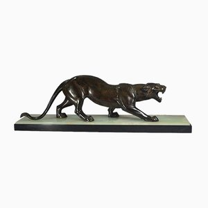 Art Deco Metal Panther by Rochard, 1930s