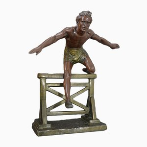 Grande Sculpture Hurdle Jumper par DH. Chiparus, 1930s