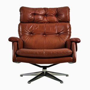 Vintage Leather Club Chair, 1970s