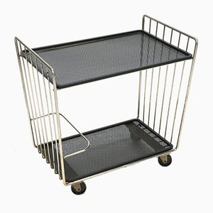 Mid-Century Perforated Metal Trolley, 1960s