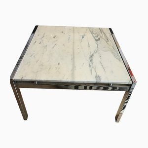Vintage Calacatta Marble Coffee Table, 1970s