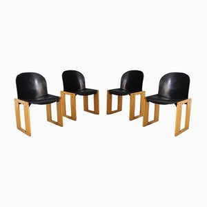 Italian Dining Chairs by Tobia & Afra Scarpa for B&B Italia, 1960s, Set of 4
