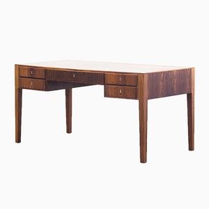 Danish Freestanding Rosewood Desk from Haslev Møbelsnedkeri, 1950s