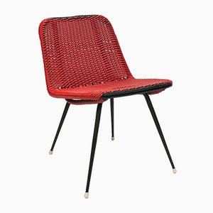 Mid-Century Metal and Plastic Side Chair, 1950s