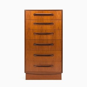 Teak Tallboy Dresser by Victor Wilkins for G-Plan, 1960s