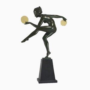 Bailarina con discos de Marcel Bouraine para Max Le Verrier, años 30