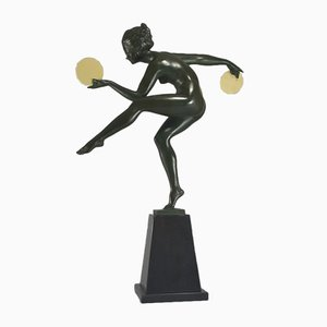 Disc Dancer by Marcel Bouraine for Max Le Verrier, 1930s