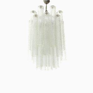 Lámpara de araña Tronchi de cristal de Murano, años 60