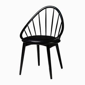Dänischer Hoop Beistellstuhl aus Holz von Ib Kofod Larsen, 1950er