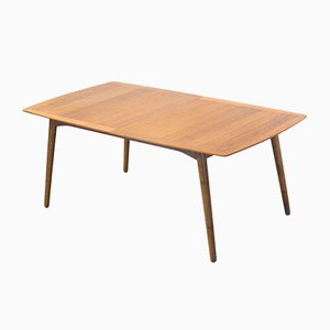Danish Walnut Extendable Dining Table, 1980s