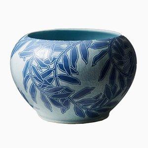 Vaso da fiori antico in ceramica di Gunnar Wennerberg