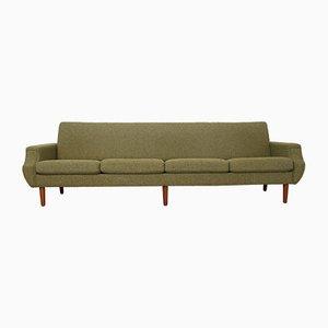 Dänisches Mid-Century Sofa mit Gestell aus Teak & Bezug aus Wolle, 1960er