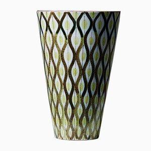Vaso in ceramica di Stig Lindberg per Gustavsberg, Svezia, anni '50