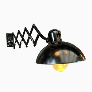 Bauhaus Iron Scissor Wall Lamp by Christian Dell for Kaiser Idell, 1930s
