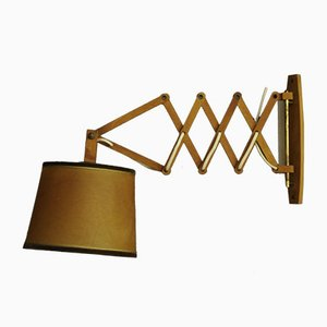 Mid-Century Plastic and Wood Sconce, 1960s