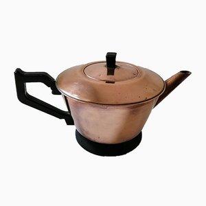 Art Deco Bakelite & Copper Teapot from Milesmann of London, 1930s
