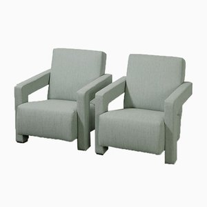 Utrecht Lounge Chairs by Gerrit Rietveld for Cassina, 1990s, Set of 2