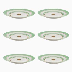 Set de Vaisselle Art Déco en Porcelaine par Nora Gulbrandsen pour Porsgrund Porselænsfabrik AS, 1930s, Set de 6