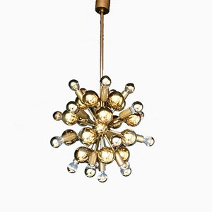 Vintage German Brass Sputnik Chandelier from Cosack, 1970s