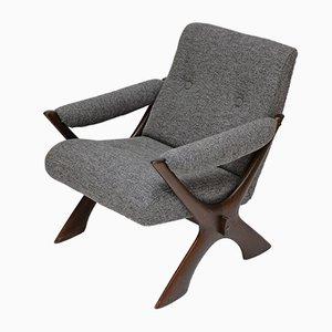 Mid-Century Sessel mit Gestell aus Buche, 1960er