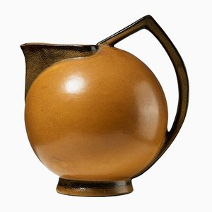 Art Deco Swedish Terra Jug by Ewald Dahlskog, 1930s