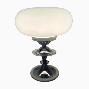 Lampada da tavolo postmoderna in vetro opalino, Italia, anni '60