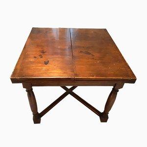 Antiker italienischer Esstisch aus Nussholz