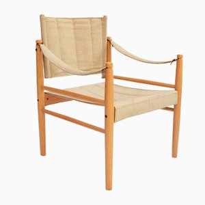 Scandinavian Modern Safari Side Chair, 1960s