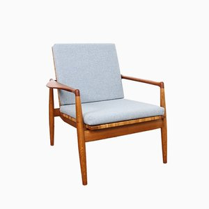 Danish SW 96 Lounge Chair by Finn Juhl for Søren Willadsen Møbelfabrik, 1950s