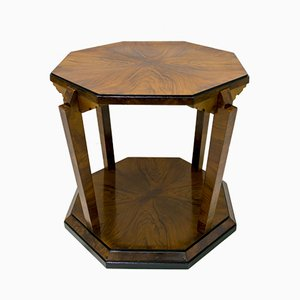 Table Basse Art Déco en Noyer par Gaetano Borsani pour Atelier Borsani Varedo, Italie, 1920s