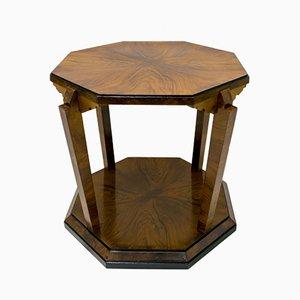 Tavolino da caffè Art Déco in legno di noce di Gaetano Borsani per Atelier Borsani Varedo, Italia, anni '20