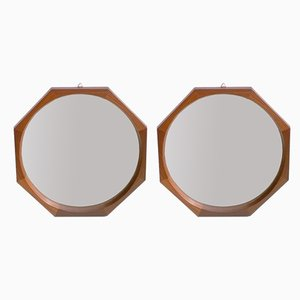 Italian Mirrors by Dino Cavalli for Tredici & Co, 1950s, Set of 2