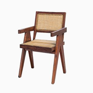 Teak Chandigarh Desk Chair by Pierre Jeanneret, 1950s