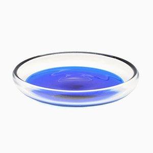 Mid-Century Glass Blue Grapes Fruit Bowl by Severin Brørby, 1968