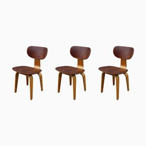 SB02 Dining Chairs by Cees Braakman for Pastoe, 1950s, Set of 3