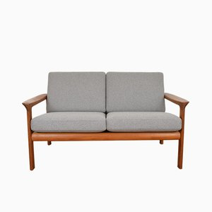 Dänisches Borneo Sofa mit Gestell aus Teak von Sven Ellekaer für Komfort, 1960er