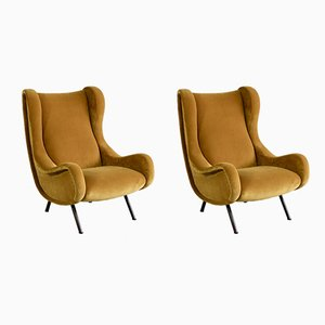 Senior Armchairs by Marco Zanuso for Arflex, 1958, Set of 2