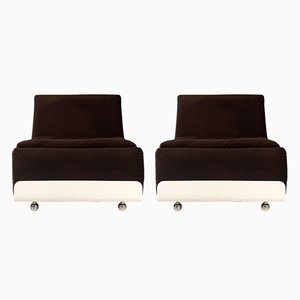 German Orbis Lounge Chairs by Luigi Colani for Cor, 1970s, Set of 2
