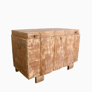 Vintage Art Deco Italian Fir Trunk, 1930s