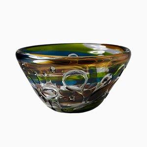 Mundgeblasene Glasschale von Vicke Lindstrand für Kosta, 1967