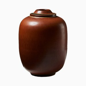 Modernist Stoneware Tobo Vase by Erich and Ingrid Triller, 1950s