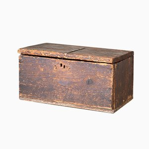 Antique Rustic Italian Fir Trunk