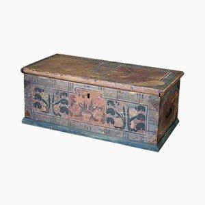Baule bohémien antico in legno di abete
