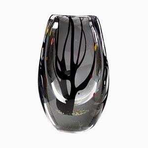 Jarrón Mid-Century de vidrio, años 50