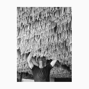 Spaghetti Drying Print by Alfred Eisenstaedt