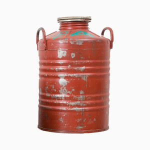 Vintage Red Oil Bins, 1970s, Set of 4